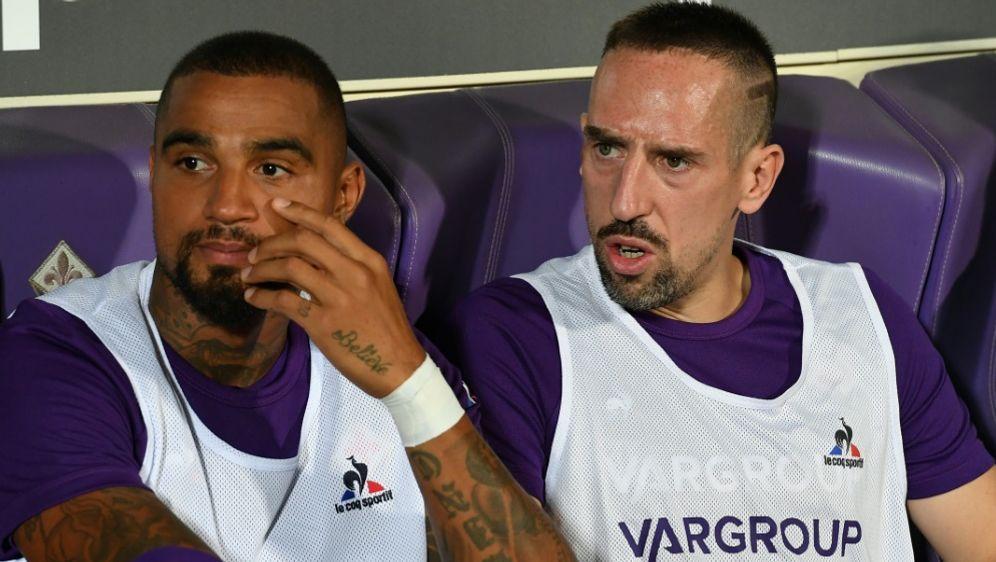 Kevin-Prince Boateng (li.) mit Franck Ribery. - Bildquelle: AFPSIDANDREAS SOLARO