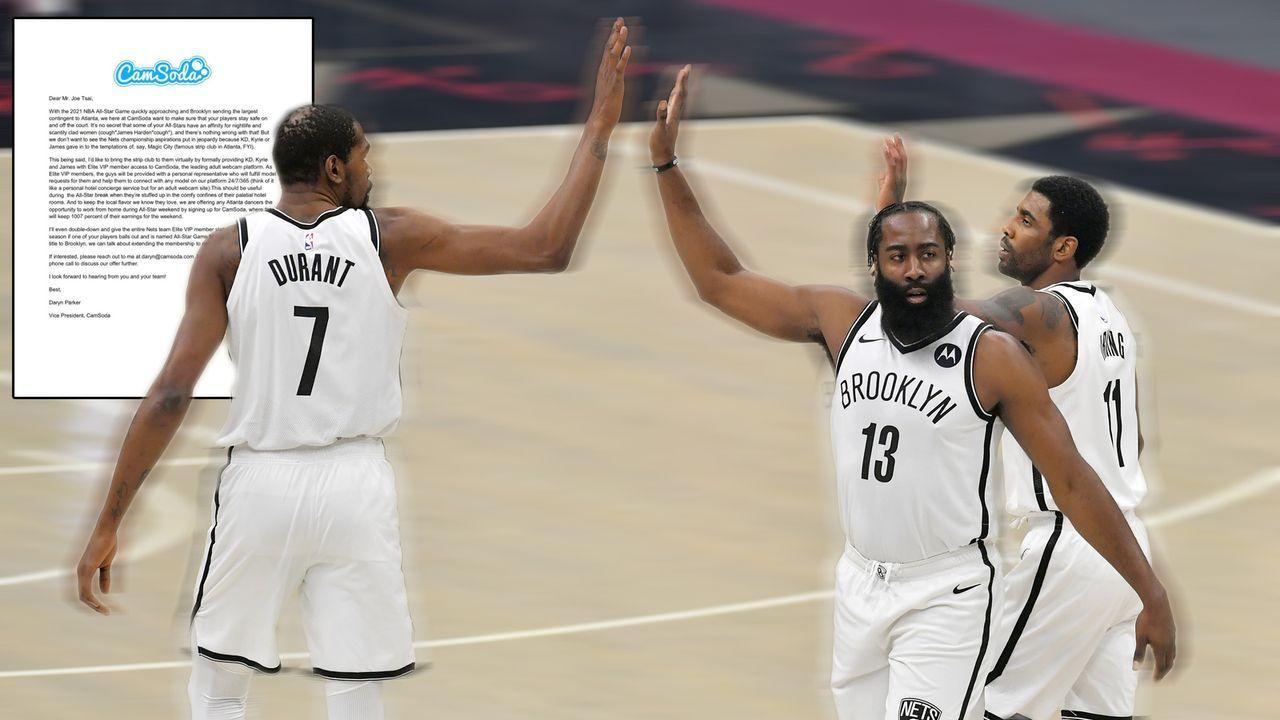 """All-Star-Weekend: Brooklyn Nets um Irving, Durant und Harden in """"virtuellen Stripclub"""" eingeladen - Bildquelle: 2021 Getty Images"""