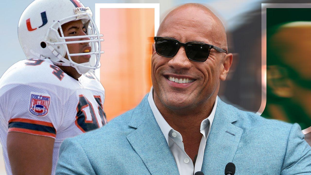 """Dwayne """"The Rock"""" Johnson: So lief seine Football-Karriere bei den Miami Hurricanes  - Bildquelle: Getty"""