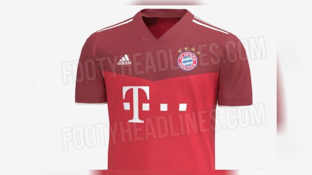 FC Bayern: Mögliches Heimtrikot in Doppel-Rot - Bildquelle: Footy Headlines