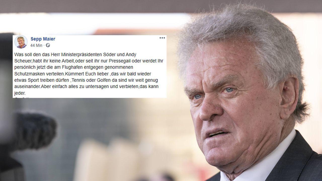 """Sepp Maier greift Politiker an: """"Seit ihr Pressegail"""" - Bildquelle: imago / Screenshot Facebook @Sepp Maier"""