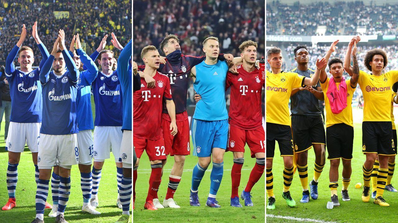 Ranking: Wie oft hatten die Bundesliga-Teams 2018/19 ein volles Stadion? - Bildquelle: imago sportfotodienst, Getty 2019