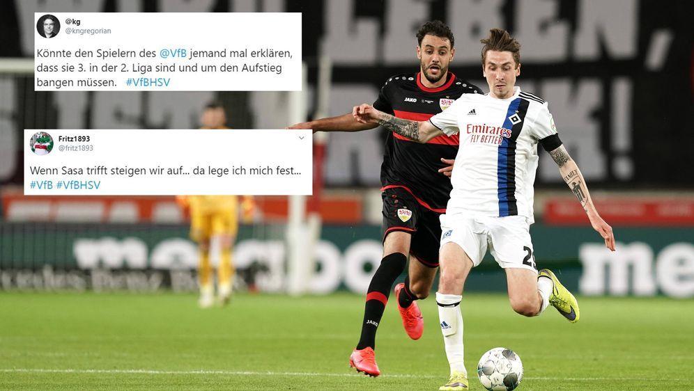 Stuttgart und Hamburg kämpfen um den Aufstieg - Bildquelle: imago ; twitter/fritz1893 ; twitter/kngregorian