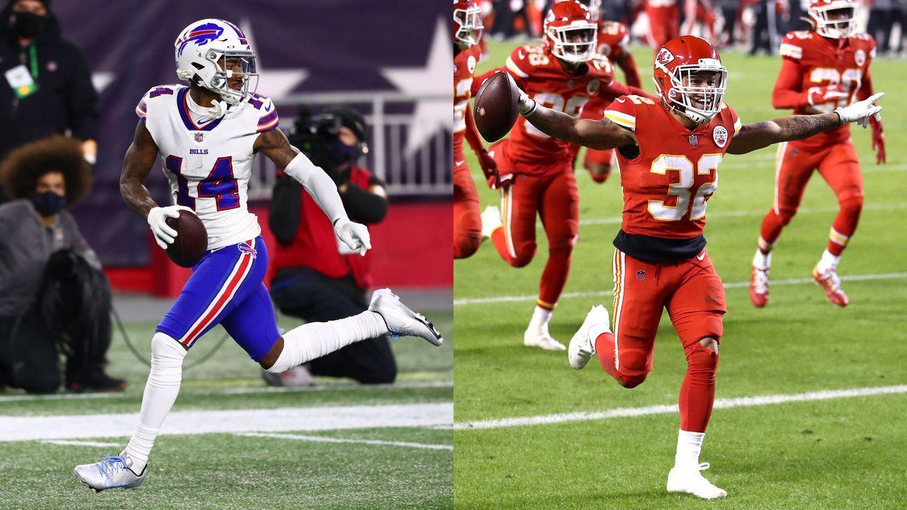 Bills at Chiefs: Stefon Diggs vs. Tyrann Mathieu - Bildquelle: Getty Images