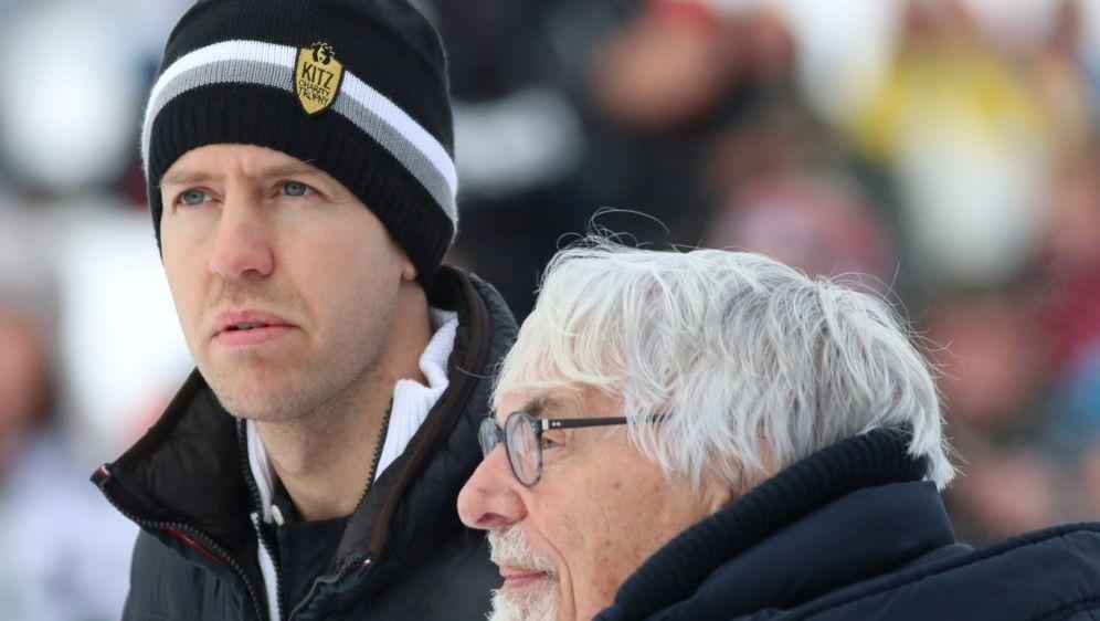 Bernie Ecclestone (r.) mit Sebastian Vettel - Bildquelle: PIXATHLONPIXATHLONSID