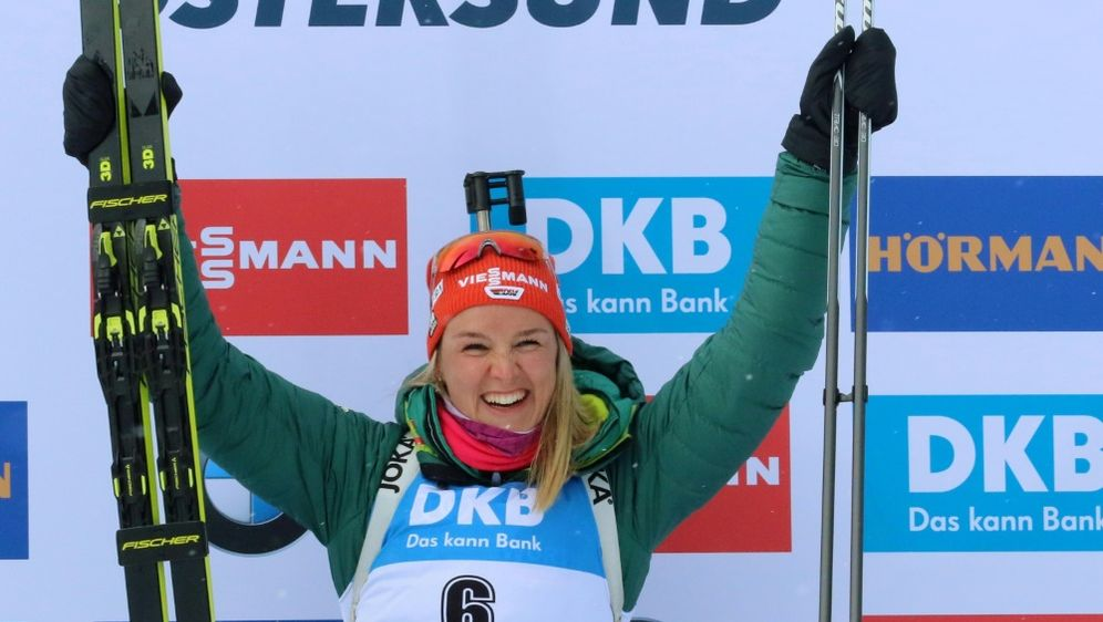 Herrmann gewinnt beim Massenstart in Östersund Bronze - Bildquelle: PIXATHLONPIXATHLONSID