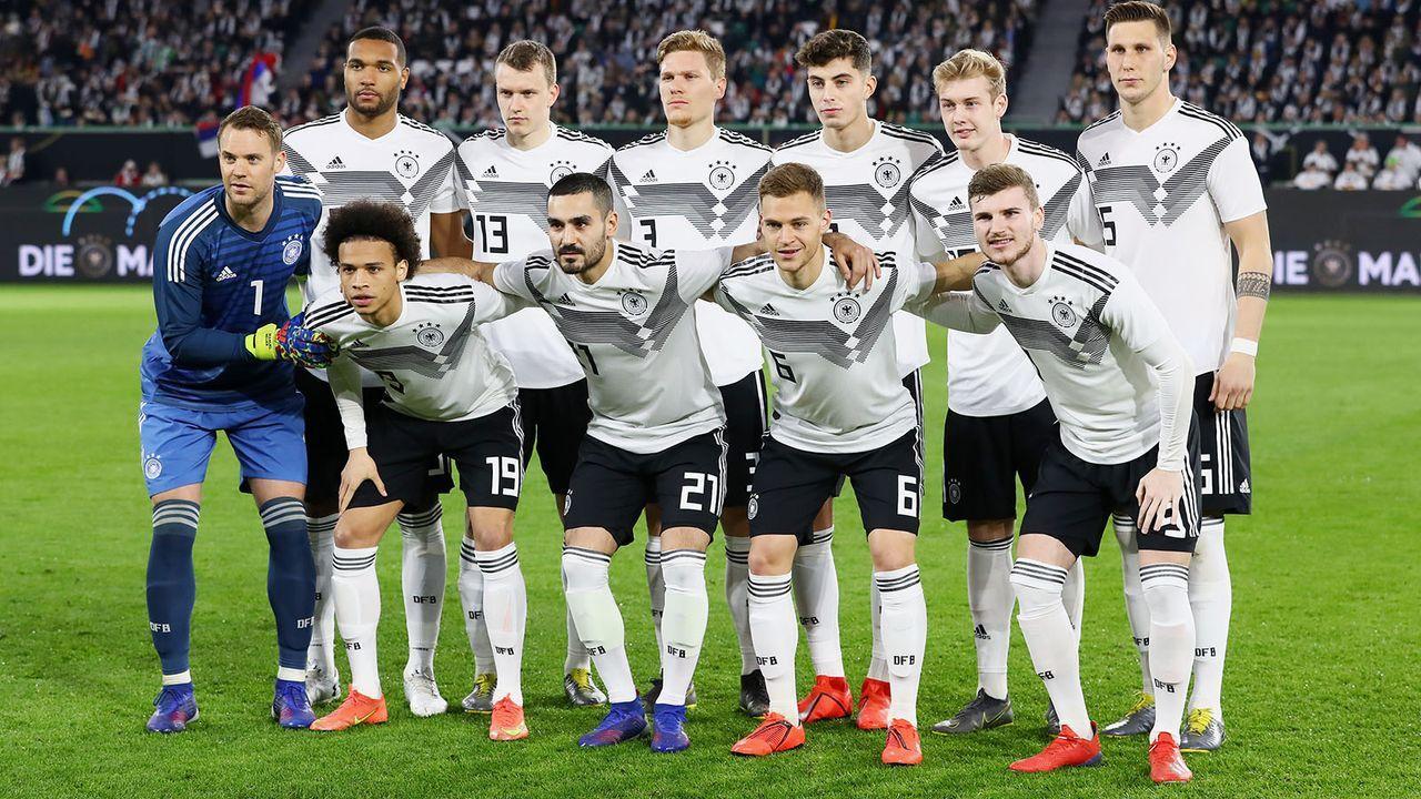 Eine runderneuerte deutsche Mannschaft im ersten Länderspiel des Jahres   - Bildquelle: Imago