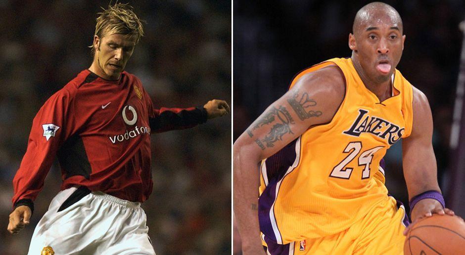 Platz 7: David Beckham und Kobe Bryant - Bildquelle: Getty Images