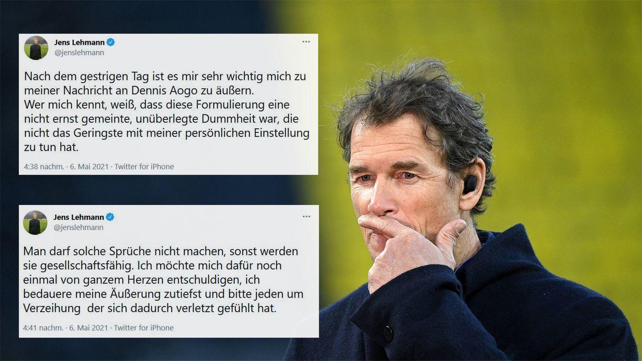 """""""Unüberlegte Dummheit"""" - Jens Lehmann entschuldigt sich erneut öffentlich - Bildquelle: Imago Images / Twitter Jens Lehmann"""