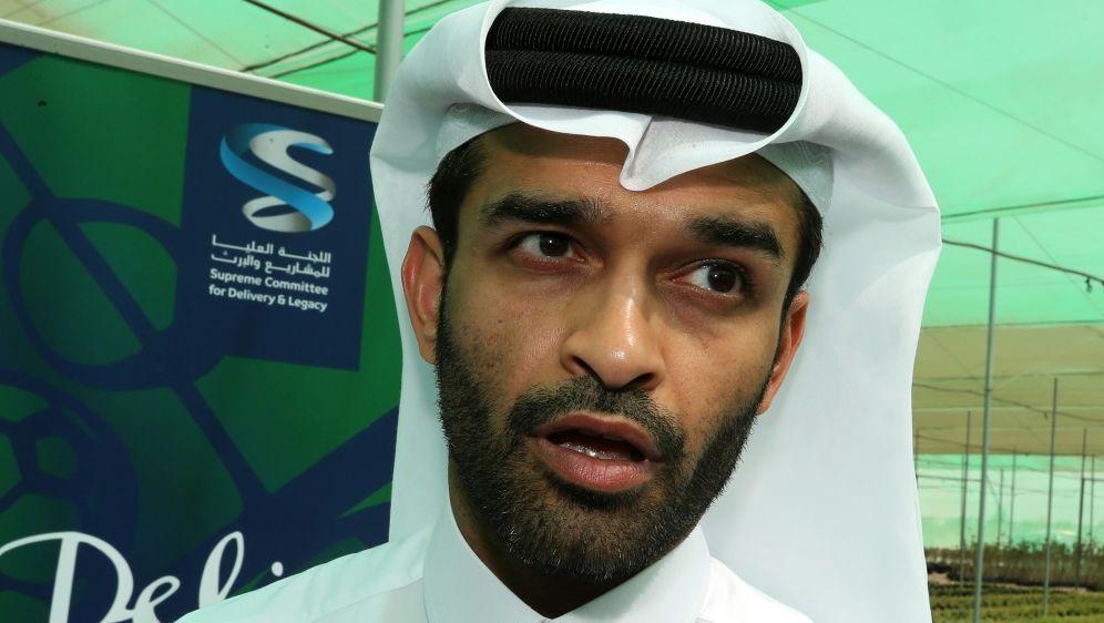 """Al-Thawadi: """"FIFA und Katar treffen die Entscheidungen."""" - Bildquelle: AFPSIDKARIM JAAFAR"""
