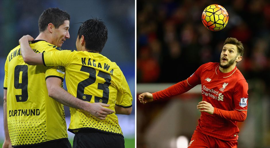 Offensives Mittelfeld: Lewandowski/Kagawa vs. Lallana - Bildquelle: Getty Images