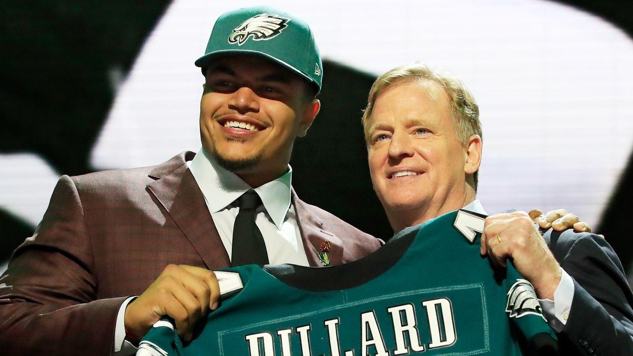 22. Pick - Philadelphia Eagles: OT Andre Dillard (Washington St.) - Trade mit Baltimore Ravens - Bildquelle: 2019 Getty Images