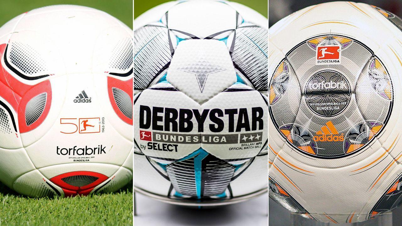 Spielbälle der Bundesliga seit 2010 - Bildquelle: Imago/twitter@DFL_Official