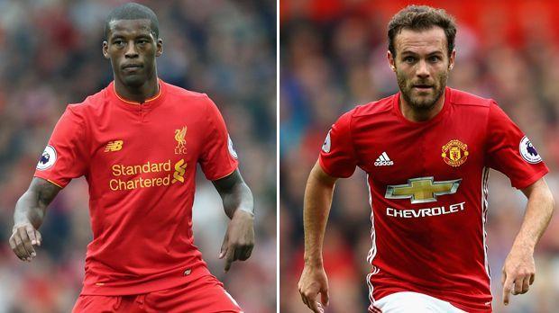 Georginio Wijnaldum vs. Juan Mata - Bildquelle: Getty Images