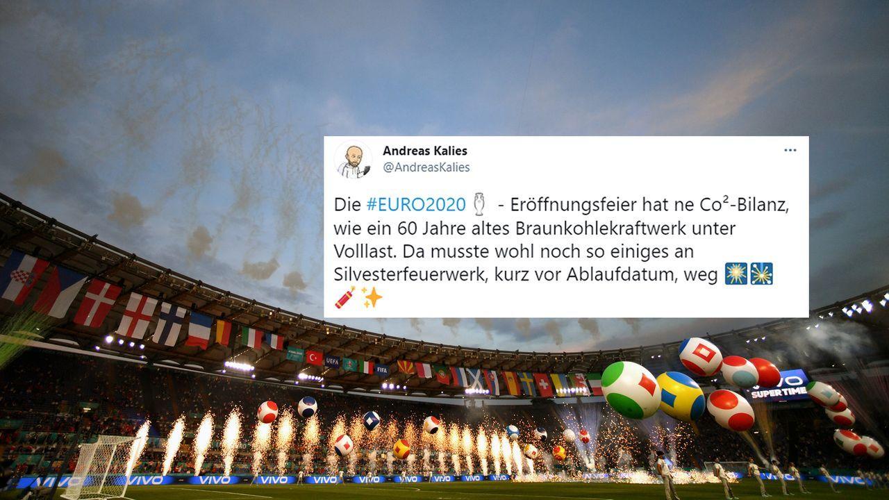 Netzreaktionen zur EM-Eröffnungsfeier - Bildquelle: Getty Images/twitter@AndreasKalies