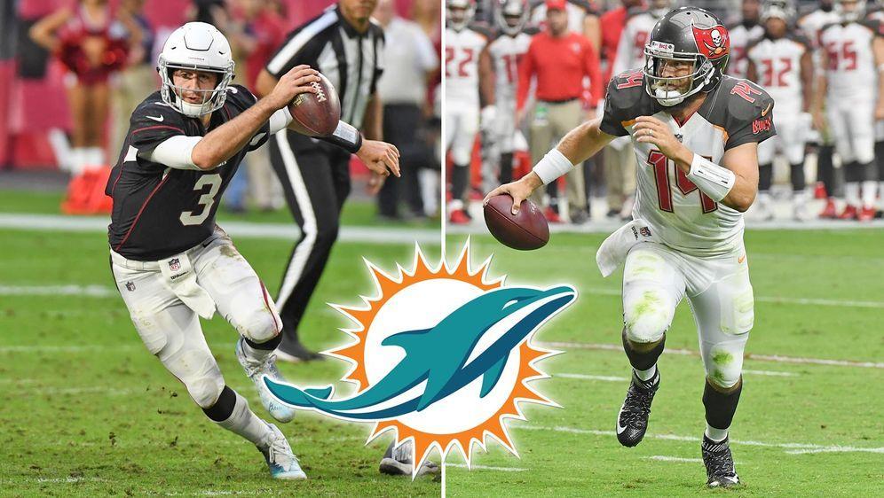 Bei den Miami Dolphins ist immer noch offen, ob Josh Rosen (l.) oder Ryan Fi... - Bildquelle: Getty