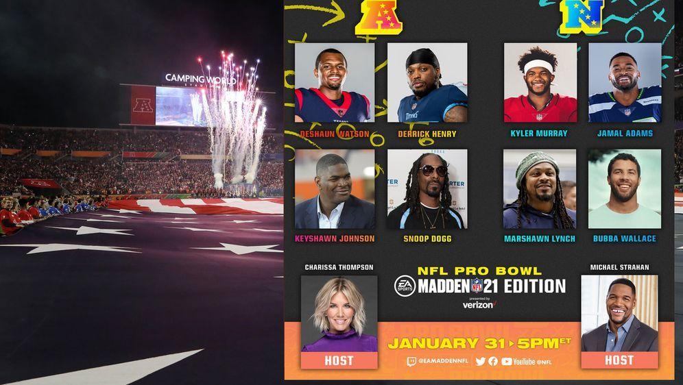 Es ist angerichtet: In Zeiten von Corona findet der Pro Bowl virtuell statt ... - Bildquelle: Getty Images, Twitter/@NFL