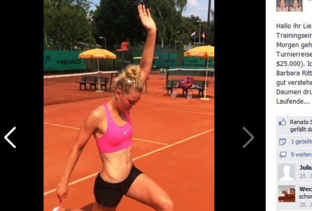 Carina Witthöft: die deutsche Tennis-Hoffnung - Bildquelle: Facebook