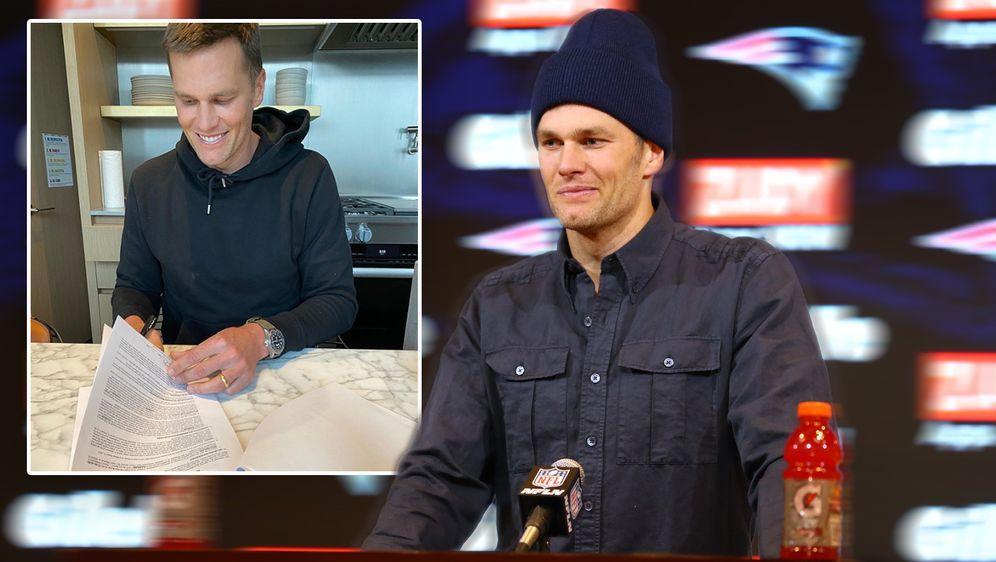 Tom Brady hat seinen Vertrag bei den Tampa Bay Buccaneers unterschrieben - Bildquelle: imago/ Instagram@tombrady