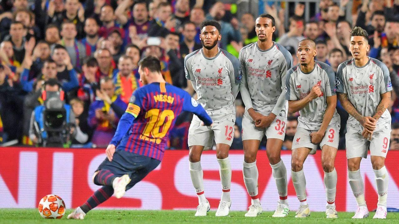 82. Minute: Messi tritt zum Freistoß an - Bildquelle: Getty