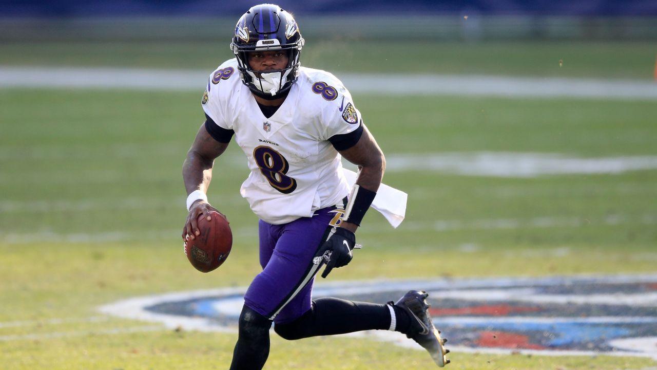 3. Lamar Jackson (Quarterback, Baltimore Ravens) - Bildquelle: 2021 Getty Images