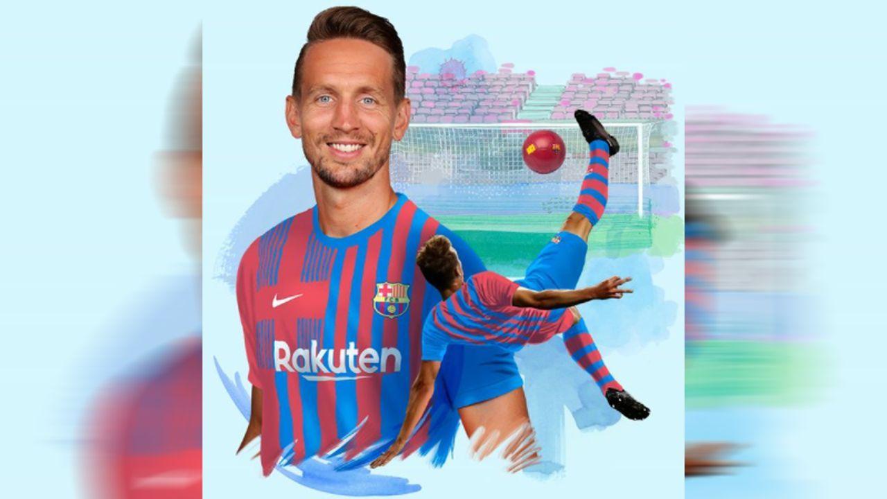 Luuk de Jong erfährt am Tag danach vom erfolgreichen Barca-Transfer - Bildquelle: twitter@FCBarcelona