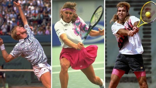 Boris Becker, Steffi Graf, Andre Agassi - Bildquelle: Getty Images
