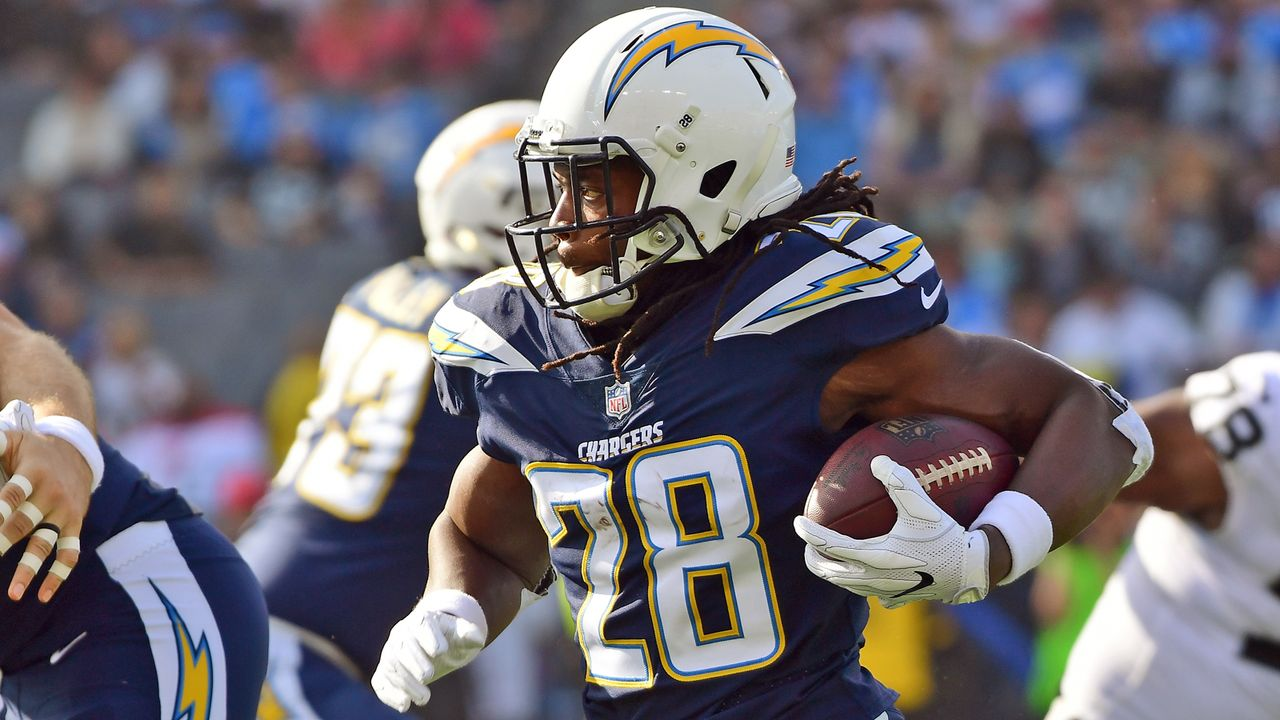 Platz 7: Melvin Gordon (Los Angeles Chargers) - Bildquelle: 2017 Getty Images