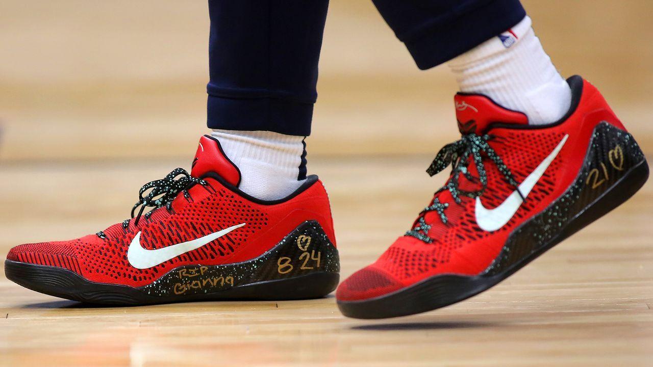 Auch Lonzo Ball läuft mit bemalten Schuhen auf - Bildquelle: 2020 Getty Images