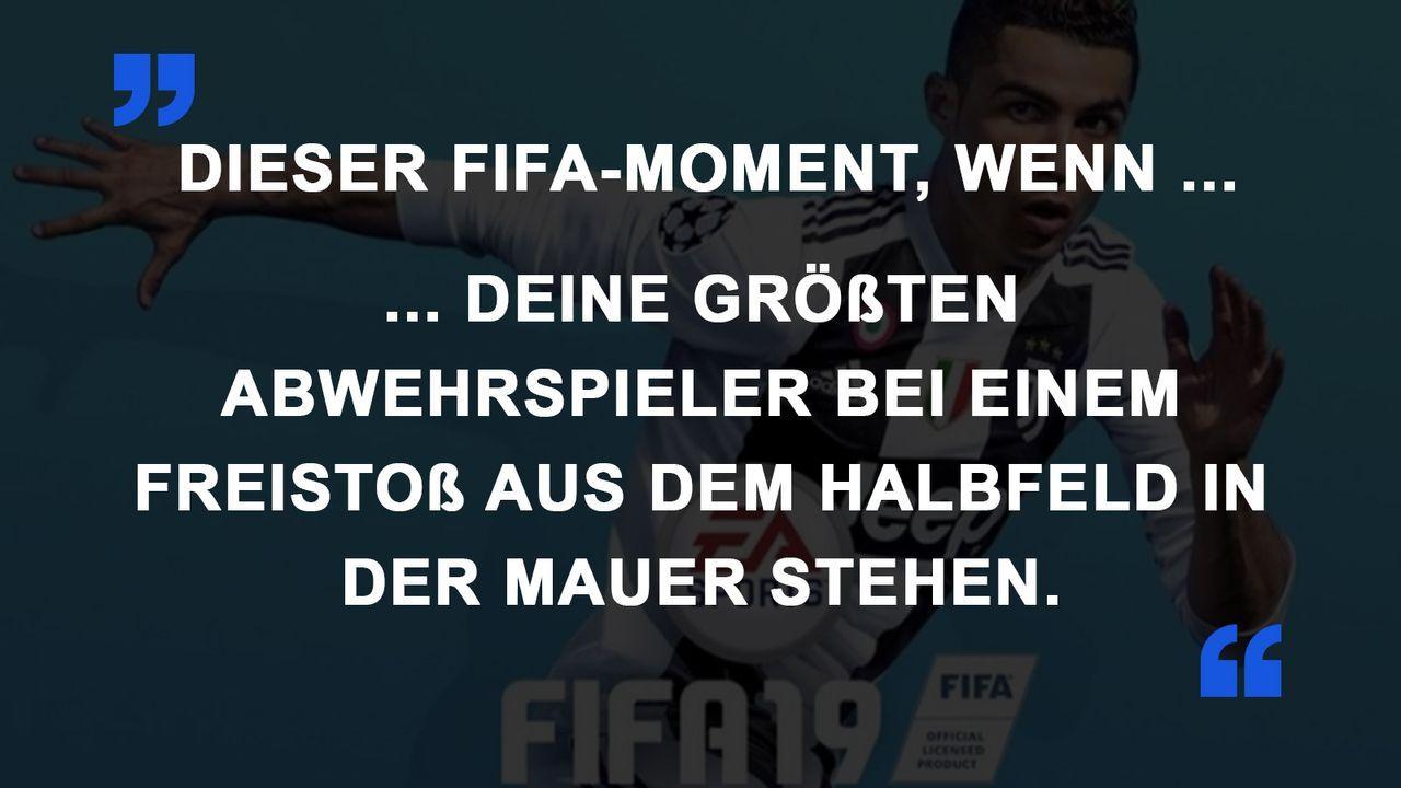 FIFA Momente Freistoß Mauer