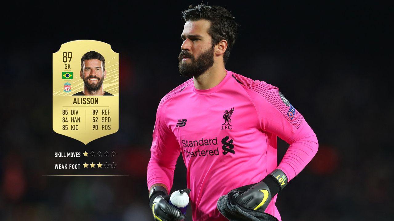 11. Alisson Becker (FC Liverpool)  - Bildquelle: 2019 Getty Images
