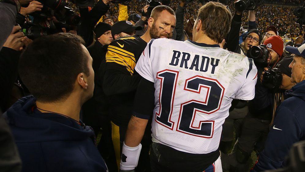 Tom Brady und Ben Roethlisberger werden wohl schon in Woche 1 aufeinander tr... - Bildquelle: Getty