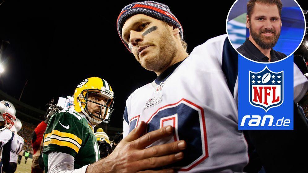 Erwartet ein spannendes Duell zwischen den beiden Star-Quarterbacks Aaron Ro... - Bildquelle: Getty