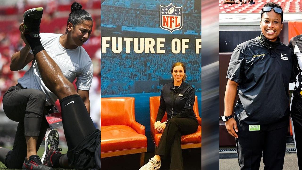 Es wird historisch: Diese sechs Frauen coachen in den NFL-Playoffs - Bildquelle: instagram.com/coachchelsstrength / Imago / instagram.com/jennifer.king5/