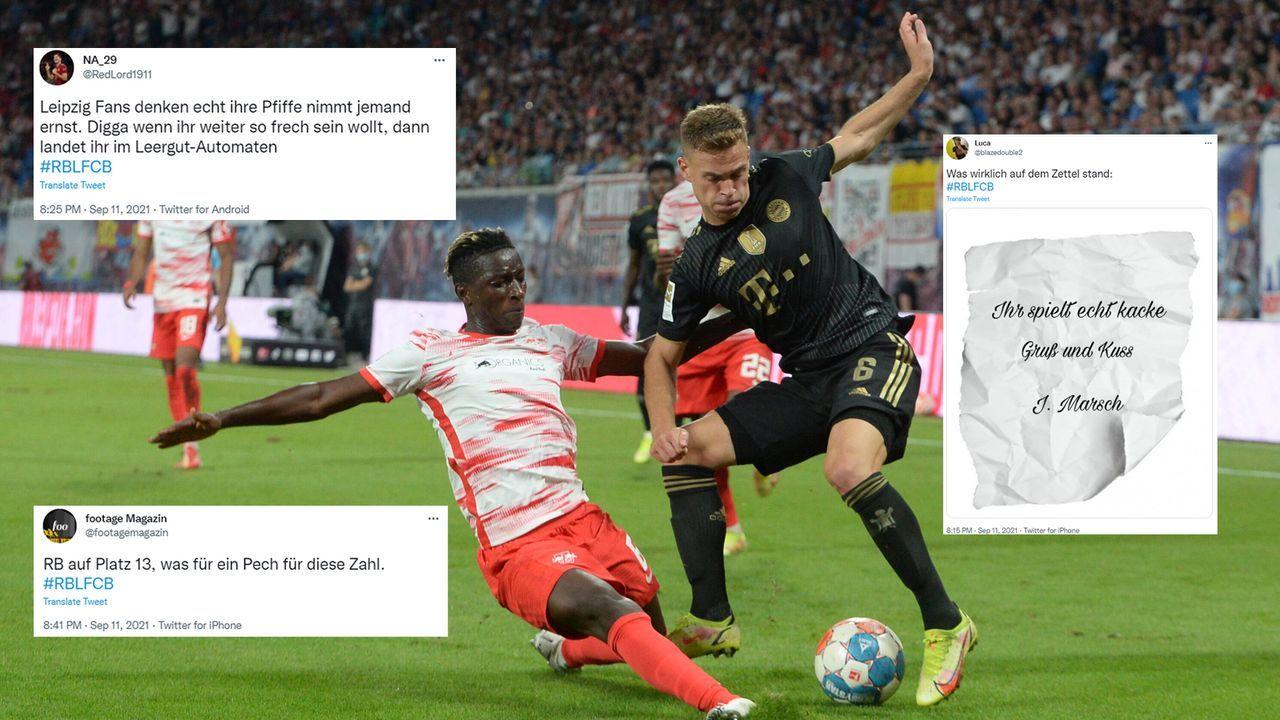 Netzreaktionen Leipzig vs. Bayern - Bildquelle: imago images/twitter@blazedouble2/twitter@footagemagazin/twitter@RedLord1911