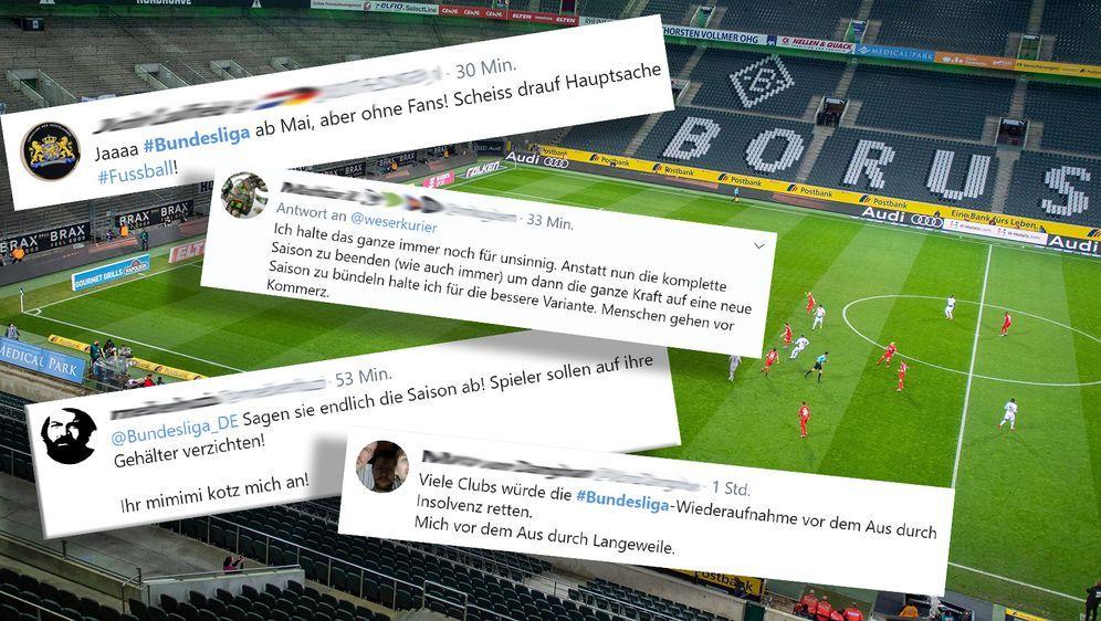 Bundesliga und 2. Liga pausieren bis 30. April. - Bildquelle: 2020 imago/Twitter