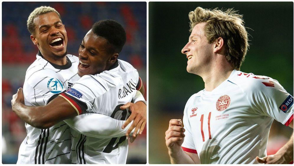 Stehen sich im Viertelfinale der U21-EM gegenüber: Die Deutschen Lukas Nmech... - Bildquelle: Getty Images/Imago Images