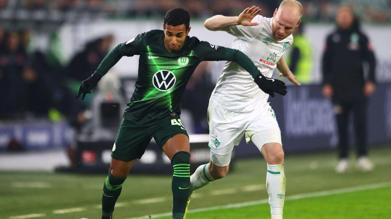 Werder Bremen (25 Punkte, -32 Tore) - VfL Wolfsburg (42 Punkte, +5 Tore) - Bildquelle: Getty Images