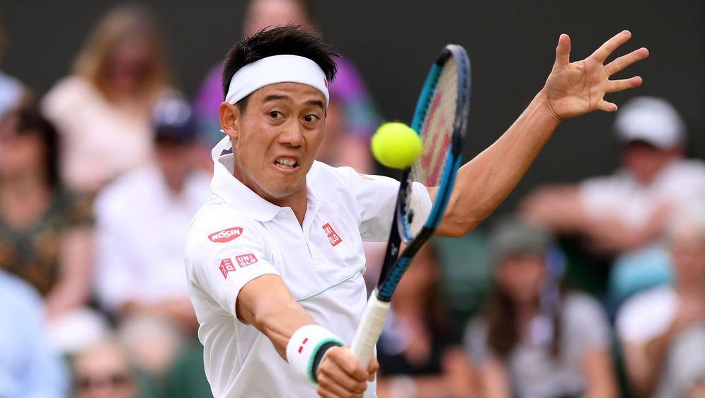 Kei Nishikori wird vom Verletzungssorgen geplagt. - Bildquelle: 2019 Getty Images