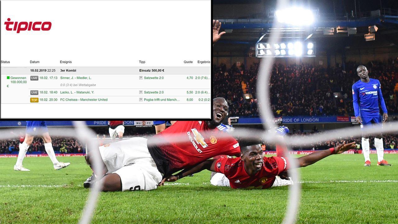 Paul Pogba beschert Zocker 100.000 Euro! - Bildquelle: Tipico