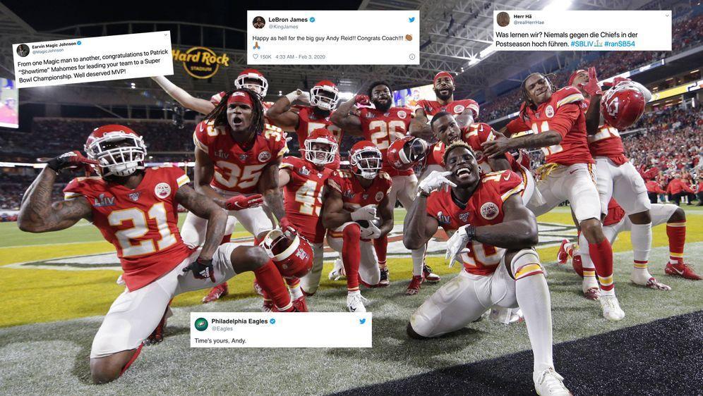 Die Kansas City Chiefs wurden für ihren Triumph gefeiert. - Bildquelle: imago images/UPI Photo