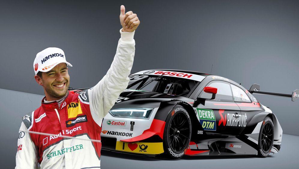 Der Audi RS 5 DTM von Mike Rockenfeller kommt in einem Sonderdesign daher. - Bildquelle: imago/Audi Communications Motorsport