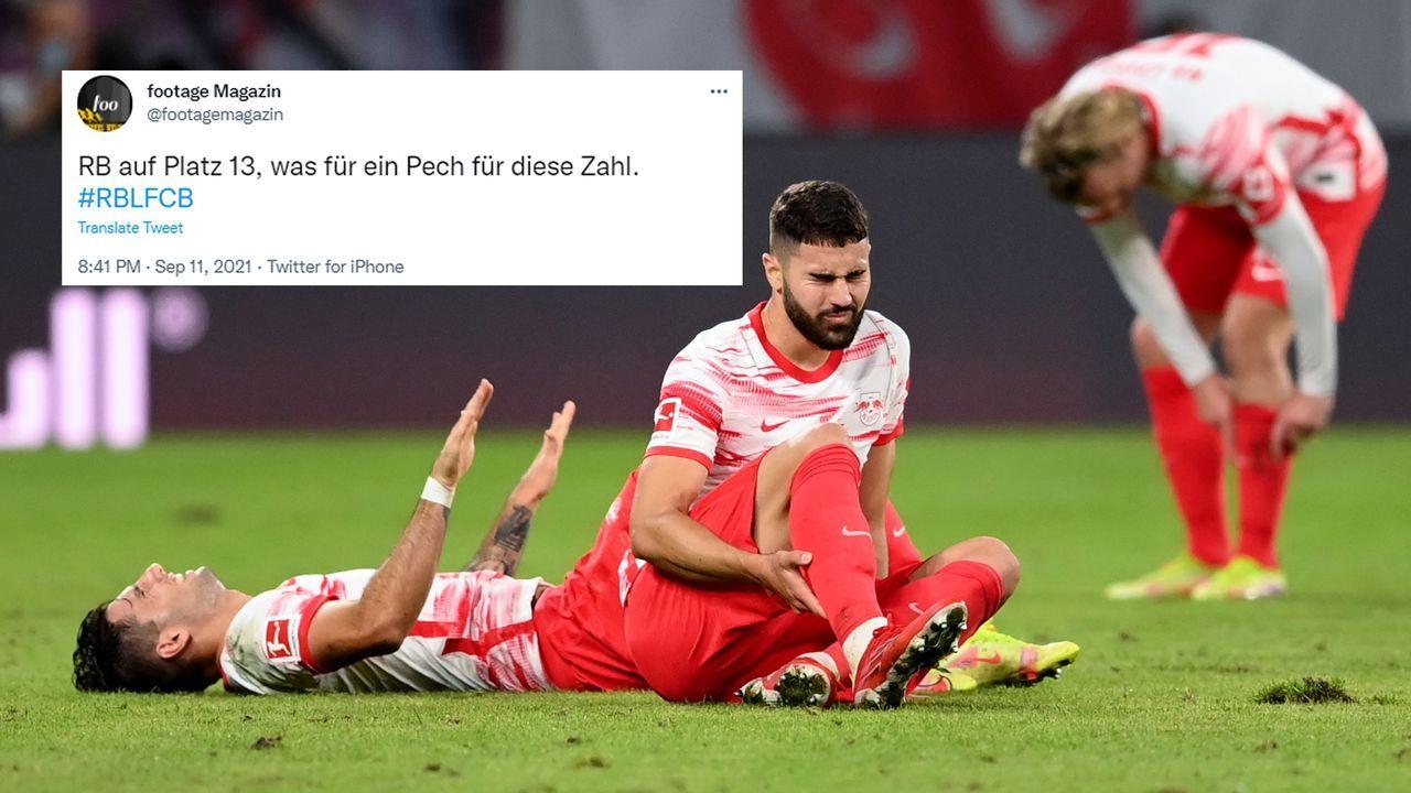 RB Leipzig auf Platz 13 - Bildquelle: Getty Images/twitter@footagemagazin