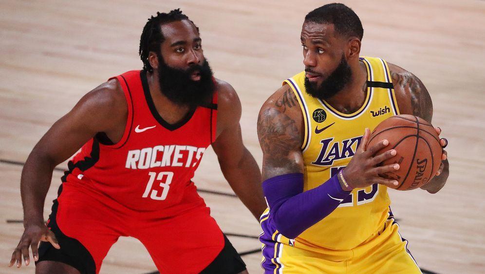 Die LA Lakers stehen kurz vor dem Halbfinaleinzug in den NBA-Playoffs. - Bildquelle: Getty