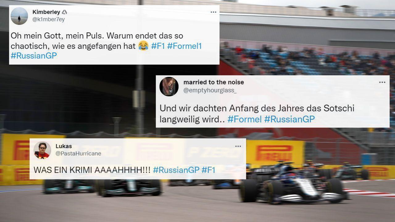Totales Chaos auf den letzten Metern! - Die Netzreaktionen zum Sotschi-Spektakel - Bildquelle: imago images/Motorsport Images