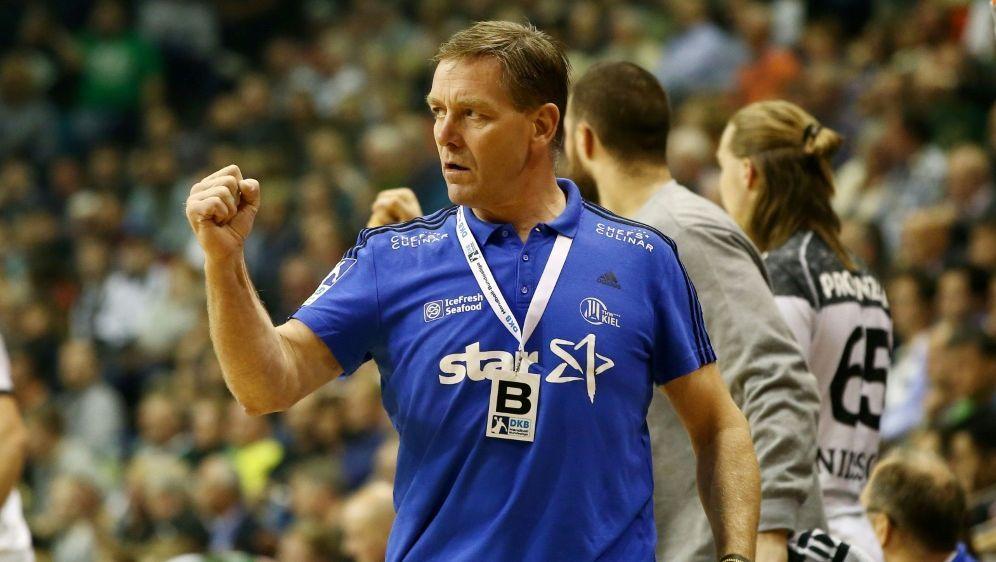 Wichtiger Sieg für Kiel und Trainer Alfred Gislason - Bildquelle: PIXATHLONPIXATHLONSID