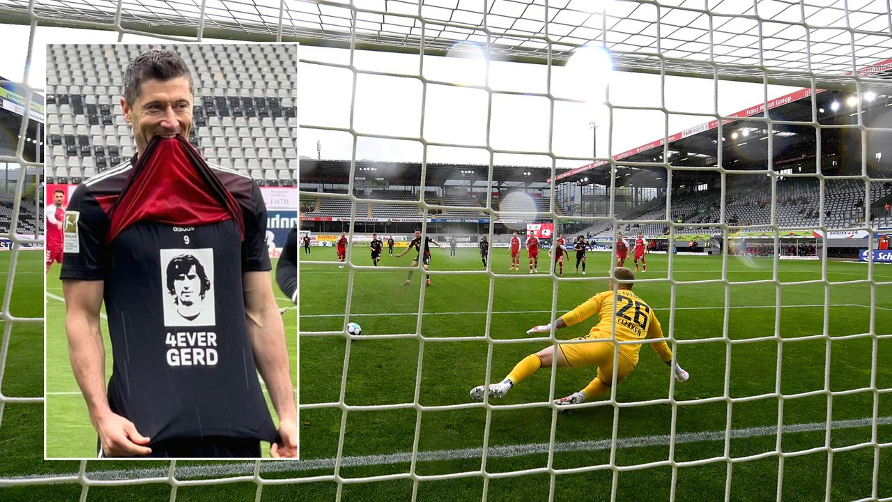 So feiert Bayern-Star Robert Lewandowski seine 40-Tore-Marke   - Bildquelle: Imago/twitter@Football__Tweet
