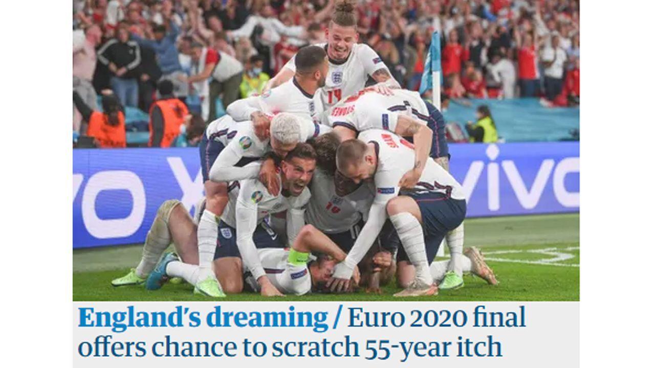 "The Guardian: ""England träumt!"" - Bildquelle: The Guardian"