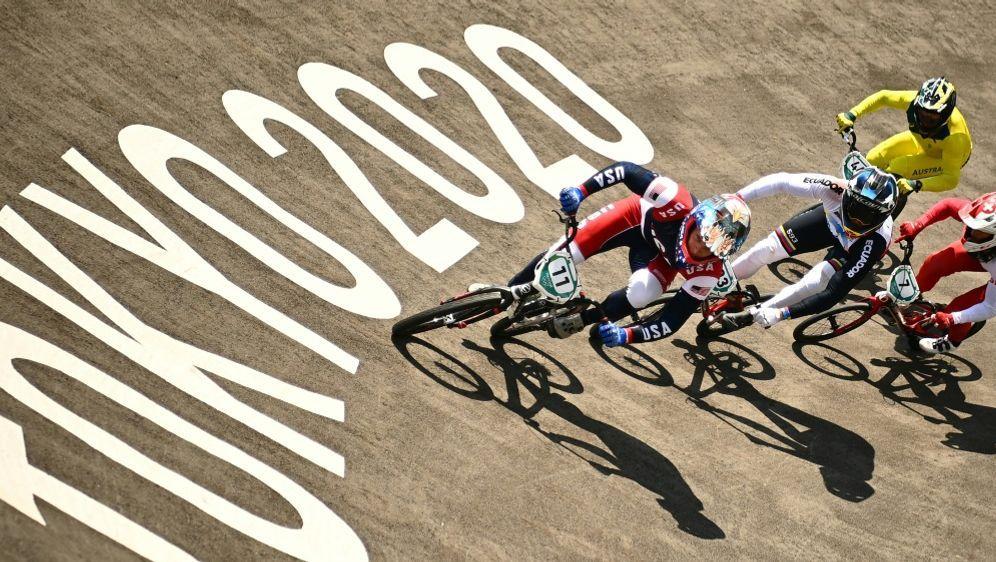 Connor Fields ist beim BMX-Rennen gestürzt - Bildquelle: AFPSIDLOIC VENANCE