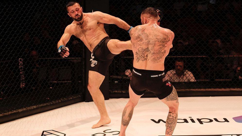 Nihad Nasufovic (li.) zeigte gegen Christian Eckerlin eine starke Leistung - Bildquelle: GMC/Foto Seven Sport
